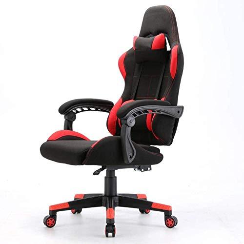 Tägliche Ausrüstung Bürostühle Spielstuhl Bequeme Rückenlehne Boss Stuhl Ergonomischer Stuhl Computerstuhl Gaming Stuhl Büromöbel (Farbe: Schwarz) (Farbe: mit Fußstütze)