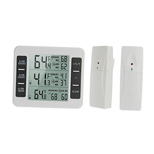 gazechimp Imán de La Alarma Del Sensor Remoto Del Termómetro Del Refrigerador para El Congelador Casero Del Refrigerador