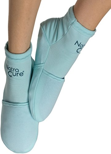 NatraCure Cold Therapy Socks - Reusable Gel Ice Frozen Slippers for Feet, Heels, Swelling, Edema, Arch, Chemotherapy, Arthritis, Neuropathy, Plantar Fasciitis, Post Partum Foot, Size: Small/Medium