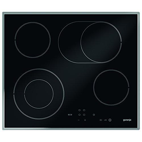 Gorenje ECT 620 X Kochfeld Elektro / Glaskeramik / 60 cm / BräterZone / Zweikreis-Kochzone / TouchControl-Sensorbedienung / Timer / Edelstahlrahmen