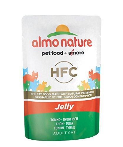 Almo Nature Classic in Jelly kattenvoering met Thunvis, verpakking van 24 (24 x 55 g)