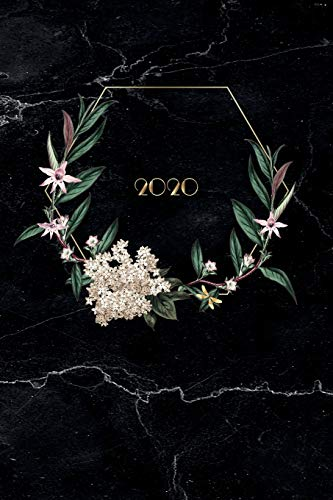 Terminplaner 2020: Boho Marble   Kalender, Monatsplaner und Wochenplaner für das Jahr 2020 im floralen Marmor Design   ca. DIN A5 (6x9\'\'), 150 Seiten, ... für Termine, Notizen und als Hochzeitsplaner