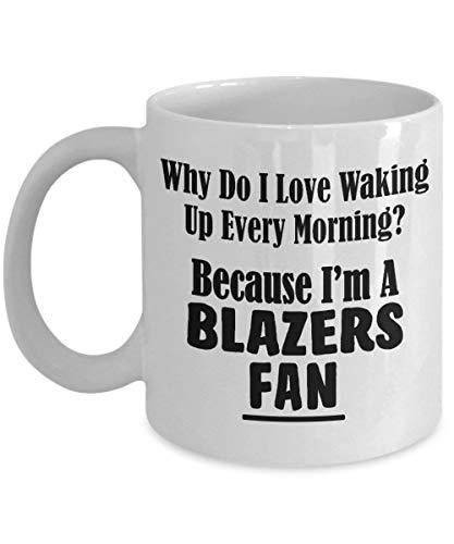 Blazer-Fan-Tasse - Liebe, die jeden Morgen aufwacht - College-Hochschulteam trägt keramische Kaffee-Tee-Schale 11 Unze zur Schau