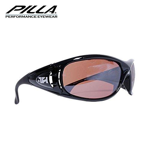 Pilla P91 Injected Series Brille 15HD Bronze-Gläser, schwarzer Rahmen