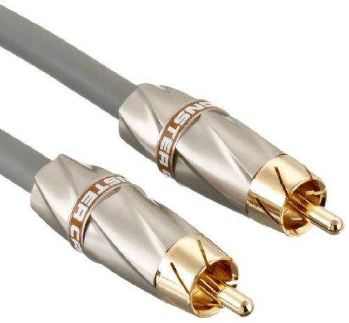 Monster 132540 High Performance Subwoofer Cable 450SW (Cinch-Kabel speziell für Subwoofer) 8 Meter