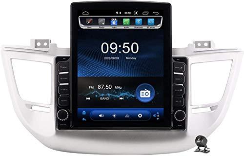 Android 9.1 GPS del Coche Navegación Multimedia Radio Pantalla de 9.7 Pulgadas Vertical para Hyundai Tucson IX35 2014-2018, Dirección de la Ayuda FM DSP RDS/DVD/Bluetooth Control de la Rueda