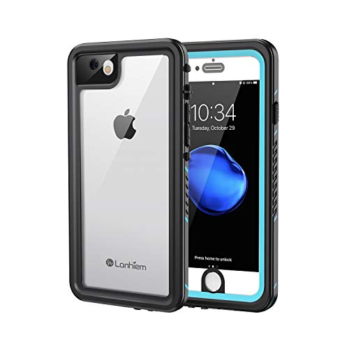 Lanhiem iPhone 7 Plus Case, 8 Plus Case, IP68 Waterproof Dustproof Shockproof Case with Built-in Screen Protector, Full Body Sealed Underwater Protective Cover for iPhone 7/8 Plus (5.5 inch, Blue)