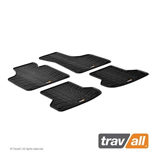 Travall Mats Tapis de Voiture Compatible avec Audi A3 3 Portes (2003-2012) A3 Sportback (2004-2012) TRM1122 - Tapis de Sol en Caoutchouc sur Measure