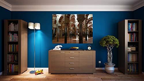 G1 | Cuadro Mezquita Córdoba | Fabricado en PVC Forex 5 MM | Medidas 100cm x 70cm | Fácil colocación | Diseño Elegante | Impresión Digital Multicolor (1 Unidad)