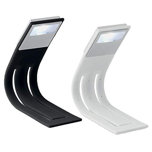 LED Leseleuchte mit flexiblem Arm Buchlampe auch als Lesezeichen verwendbar von notrash2003 (2er Set Schwarz/Weiß)