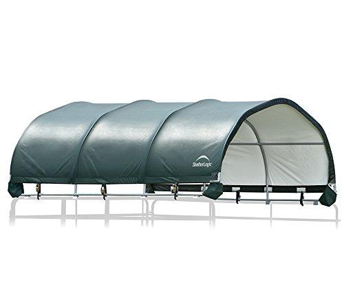 ShelterLogic Weidezelt- und Pferdestallüberdachung ohne Stahlgestell; 370x370x160 cm