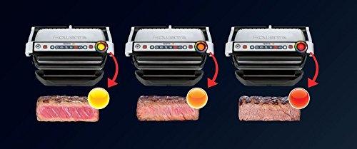 Rowenta GR702D Optigrill Bistecchiera, 2000 W, Modalità Tostiera, 6 Programmi di Cottura Automatici