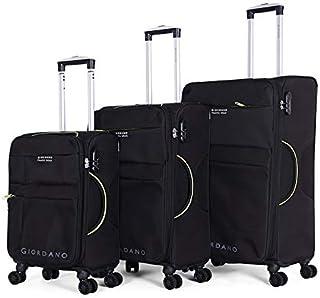 جيوردانو طقم حقائب سفر بعجلات, 3 قطع مع 4 عجلات, اسود - 18004