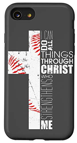 iPhone SE (2020) / 7 / 8 Baseball Phone Cases Teen Boys Players Gifts Christian Cross Case