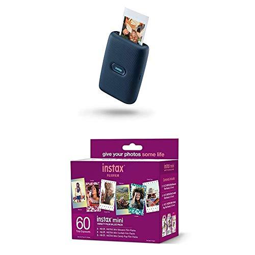 Fujifilm Instax Mini Link Smartphone Printer - Dark Denim + w/60-pack