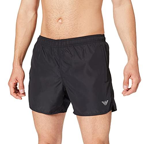 Emporio Armani Swimwear Boxer Packable Costume da Bagno, Black, 52 Uomo
