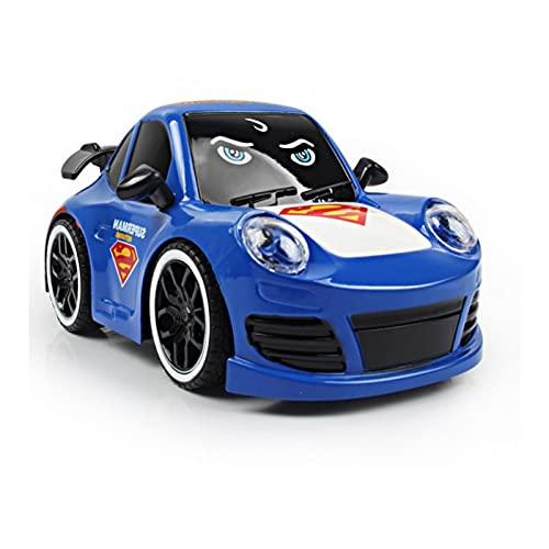 Superhéroe 4WD High Speed Control Remoto Control Rift Drift Electric RC Car 2.4GHz Radio Radio Control Rac Racing Cars Electric Racing Coche para niños y Adultos al Aire Libre X ( Color : Blue C )