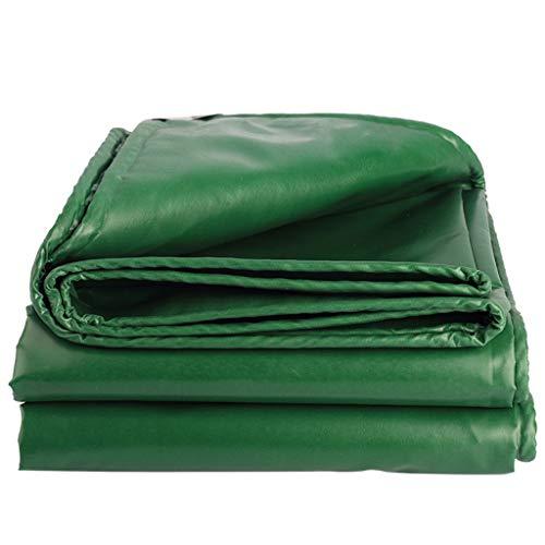 Waterdicht dekzeil voor buiten, waterdicht, voor vrachtwagen, paviljoen, olieschep, kunststof schep, isolatie van dakponcho, groen, 5 x 5 m, PVC 4X4 meters