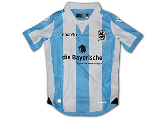 Macron 1860 München Kinder Heim Trikot hellblau weiß Löwen Home Jersey Junior, Größe:128