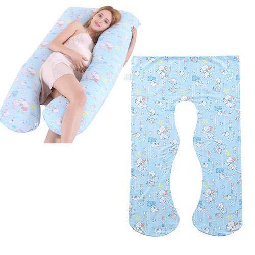 Pepional Kissenbezüge für Schwangere, Schwangerschaft Kissen, U-förmige Body Pillow Seitenschläferkissen, Schwangerschaftskissen Zum Schlafen, 130x72cm