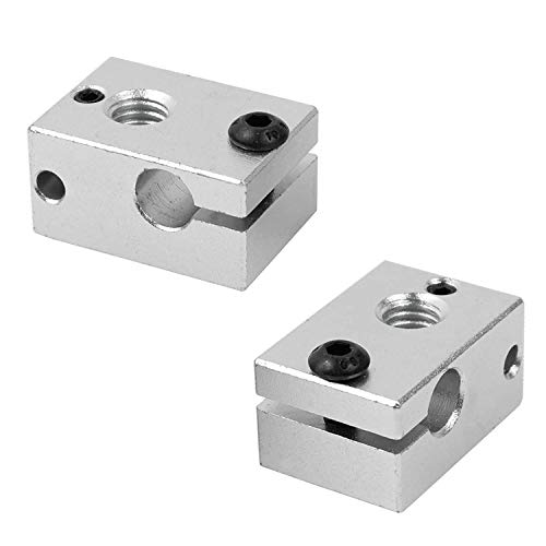 3D FREUNDE 2x Aluminium Heizblock für E3D V6 Clone PT100 Sensor Cartridge Heater Block Extruder Hotend RepRap Prusa I3 Makerbot 3D Drucker