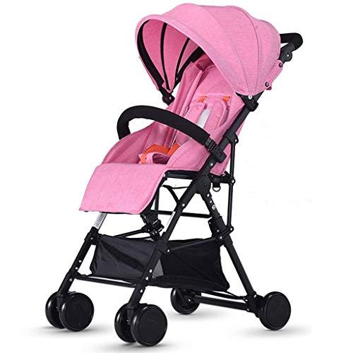 Unbekannt Comfortable Prams Lightweight Baby Pram Pushchair Buggy Travel Stroller Foldable, Folding Size: 23.2