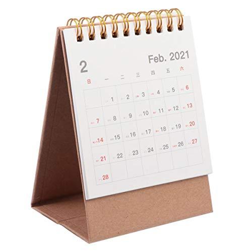TOYANDONA Multifunktionale 2021 Monatliche Seiten Schreibtisch Kalender Tagebuch Spule Stehenden Desktop-Kalender Perfekt für Büro