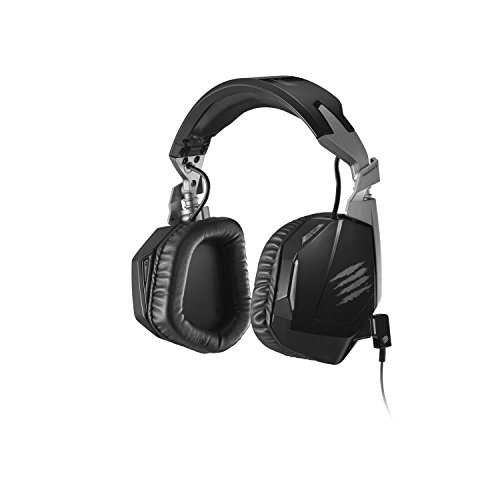 Mad Catz F.R.E.Q. 4D - Auriculares de Diadema Cerrados (con micrófono, Control Remoto Integrado, PC/Juegos), Negro