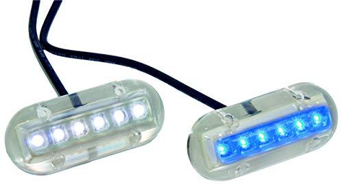 6 LED Unterwasserbeleuchtung für Boote / Lichtfarbe blau