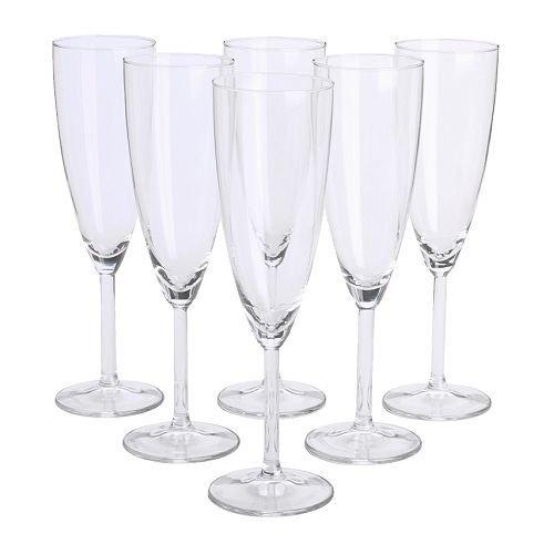 IKEASvalka Champagnerflöten, Glas, klar, 6 Stück