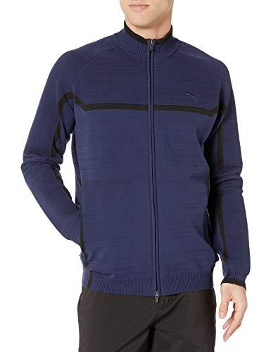 PUMA Golf Men's 2018 Evoknit Jacket, Peacoat, Large