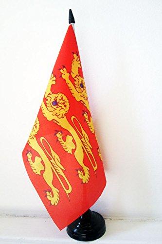 AZ FLAG Drapeau de Table Haute-Normandie 21x14cm - Petit Drapeaux DE Bureau Haut-Normand - France 14 x 21 cm
