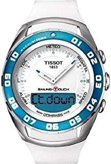 Tissot Sailing Touch Men's White Dial Rubber Band Watch - T056.420.17.016.00