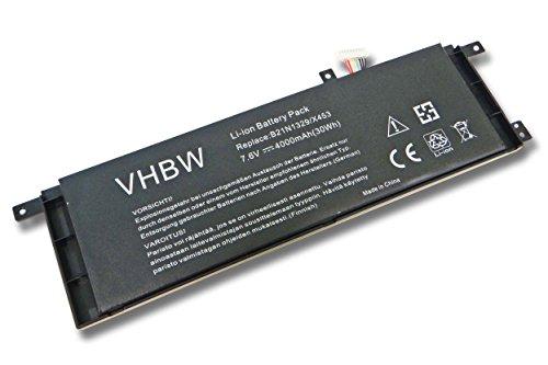 vhbw Batterie 4000 mAh (7.6 V) pour ordinateur portable Netbook Tablette de ASUS X453, X453MA-0122cn3530 0051an2830, X453MA, de 0132dn3530.