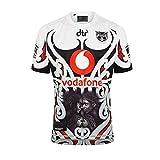 Copa del mundo Jersey de rugby, 2020 Warriors de Nueva Zelanda Rugby Jersey Uniforme de manga corta 100% Poliéster Tela transpirable Deportes Entrenamiento Camiseta Camisa de fútbol para hombres