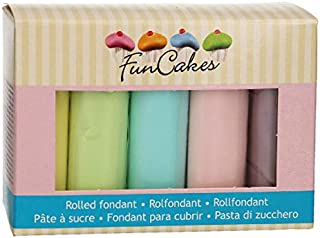 FunCakes Rolled Fondant Multipack Colores pasteles 5x100g -