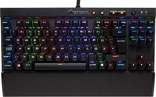 Corsair K65 Lux RGB Mechanische Gaming Tastatur (Cherry MX red: Leichtgängig und Schnell, Multi-Color RGB Beleuchtung, Kompakt, QWERTZ) schwarz