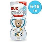 NUK 10176235 Space - Juego de chupete (1 chupete Space Schnuller, 1 cinta para...