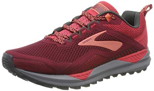 Brooks Cascadia 14, Zapatillas de Running Mujer, Rojo (Rumba Red/Rteaberry/Coral 628), 41 EU