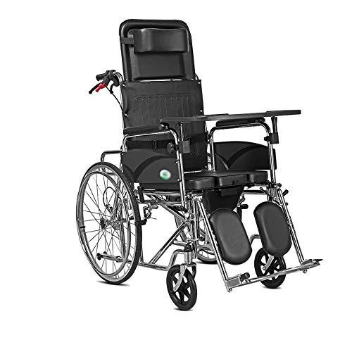 Multi-Funktions-Rollstuhl, All Lay EIN Rollstuhl, Dusche Rollstuhl über Toilette mit Toiletten und Esstisch hoher Rückenlehne, Badezimmer Mobil Stuhl