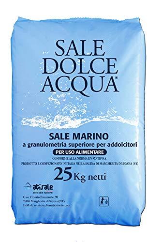 Lapi - 25 kg sacco SALE GRANULARE ALIMENTARE IPERPURO SALEMARINO per acqua piscina - ANCHE PER ADDOLCITORI prodotto in Italia da azienda certificata