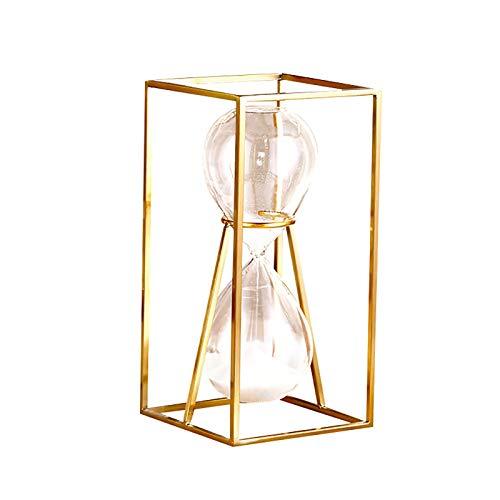 zjyfyfyf De Metal Reloj de Arena Decorativa Arena Temporizador Retro rotatorio del Estilo de Reloj de Arena for Escritorio Decoración (Color : B)