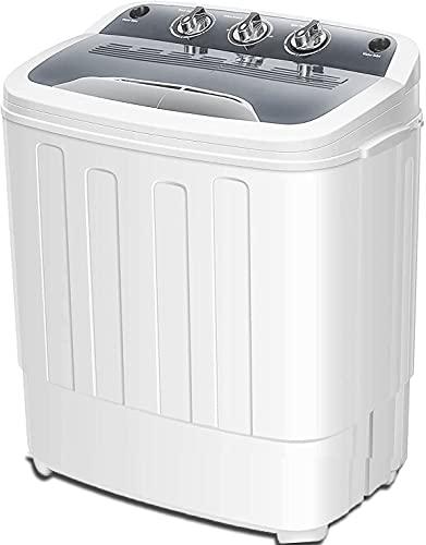 Cirstore Portable Washing Machine Double Bathtub...