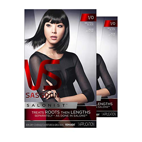 Vidal Sassoon Salonist, 1/0 Neutral Black, 2 Count