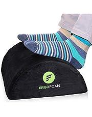 ErgoFoam Verstelbare bureauvoetsteun voor extra hoogte   Groot premium schuim onder bureauvoetsteun   Meest comfortabele voetsteun onder bureau ter wereld voor lumbale, rug, kniepijn   Voetkruk Rocker