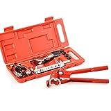 Kit svasatura per tubi, kit svasatura per tubi 11pc Kit svasatura per riparazione tubo freno carburante con set di utensili per piegatura taglierina