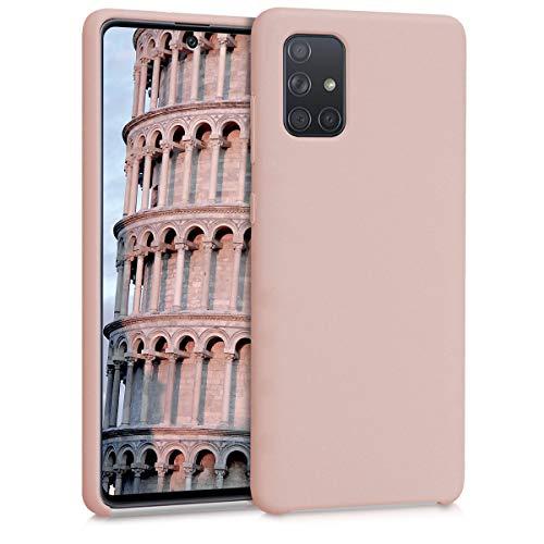 kwmobile Hülle kompatibel mit Samsung Galaxy A71 - Hülle Handyhülle gummiert - Handy Hülle in Altrosa matt