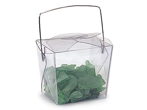 """Take Out Pails Clear - Clear Translucent PET Take Out Boxes 2-3/4x2x2-1/2"""" (4 Packs; 12 Boxes Per Pack) - WRAPS-11512"""