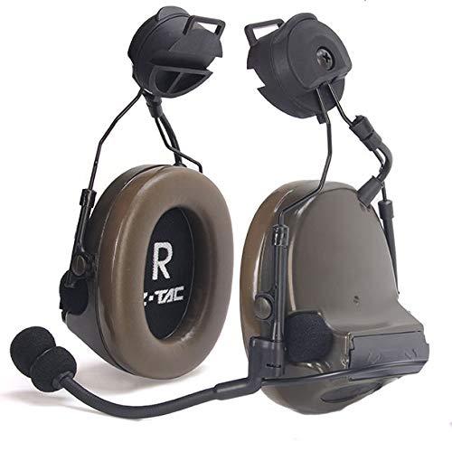 【Offizielles Z-TAC】 Z-Tactical Comtac III Tactical Headset Z051 + Schnelldrehadapter Z147 Soundkollektion mit G-Rauschunterdrückung: 1 Non-Mil-Spec Olivgrün