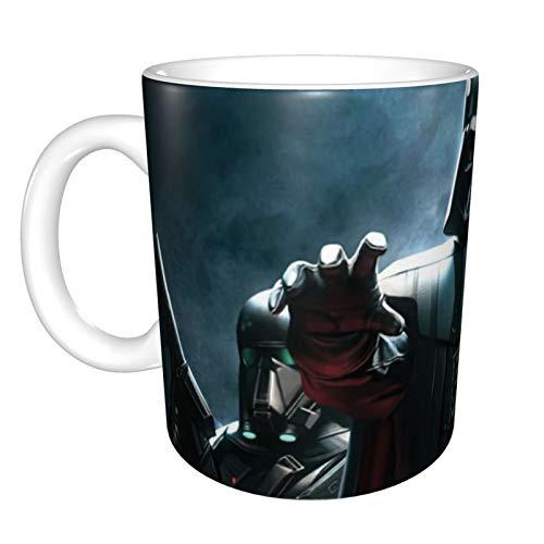 Star Wars Darth Vader - Juego de 1 taza de cerámica suave de porcelana esmerilada, tazas de café, tazas de té, para la oficina y el hogar, regalo de salud, capacidad máxima de 325 ml